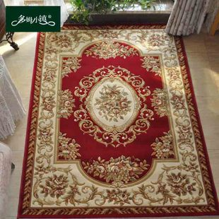European high grade wool carpet texture of hand carved American style living room carpet bedroom bed blanket thicker