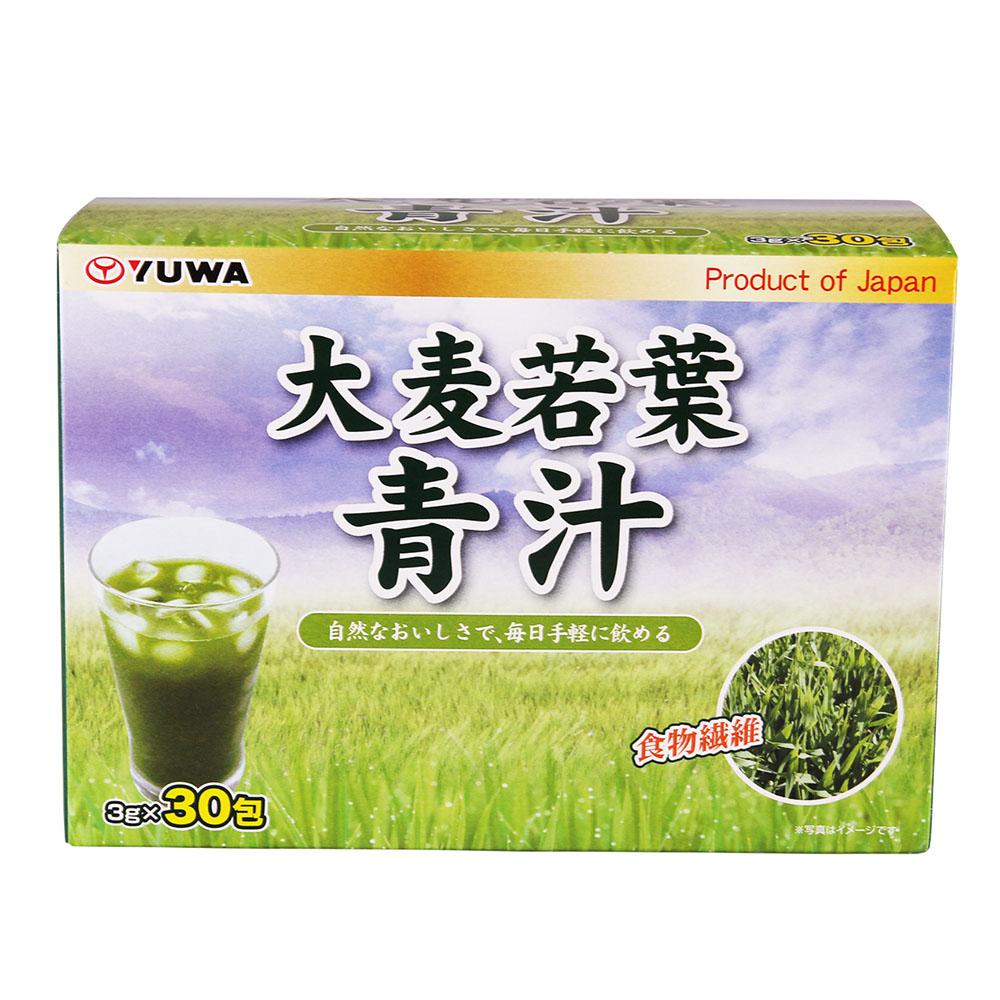 ~天貓超市~  YUWA牌大麥若葉青汁酵素粉代餐粉90g 盒