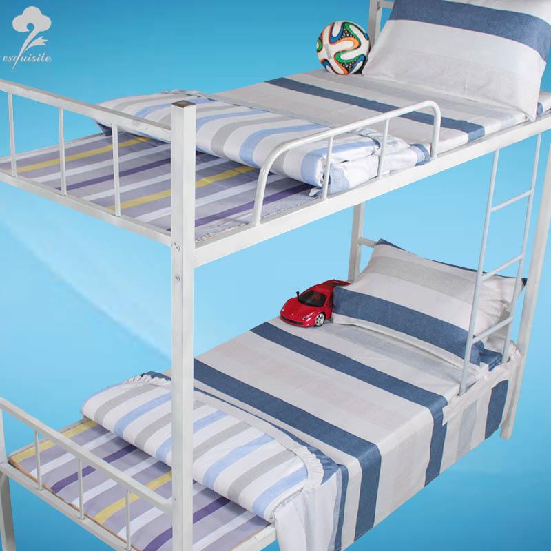 舒心緣純棉貢緞學生宿舍上下鋪床單 全棉固定不易脫落易打理床單
