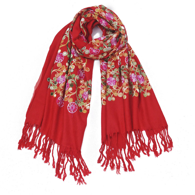 Nepal ethnic style thin long tassel lady embroidery air conditioner shawl scarf dual purpose special price package embroidery