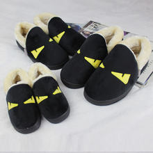 The original SuFeng winter home household slippers slippers floor cotton fluffy slippers family parent-child wool slippers for men and women, old and young