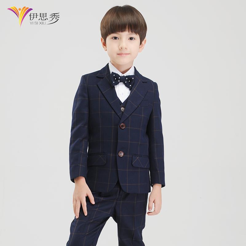 Yi Sixiu дети костюмы мальчиков платье подходит для корейской версии детей цветок ребенка Blazer Показать костюмы весна лето