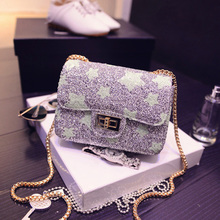 In the summer of 2015 the new small sweet wind chain BaoChao female leisure square package euramerican fashion one shoulder bag, bag