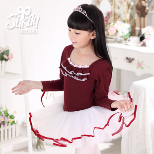 1555 Yvonne Keli children dance clothes girls cotton long sleeved clothes and children s dance ballet skirt autumn and winter