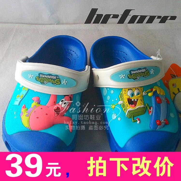 Крест лето 2014 новая карта Luo Чи Xia детей обувь, Спанч Боб Патрик сандалии Обувь