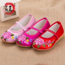 Old Beijing handmade infant girls flat cloth shoes embroidered cloth shoes show dance national wind stage performance of shoes