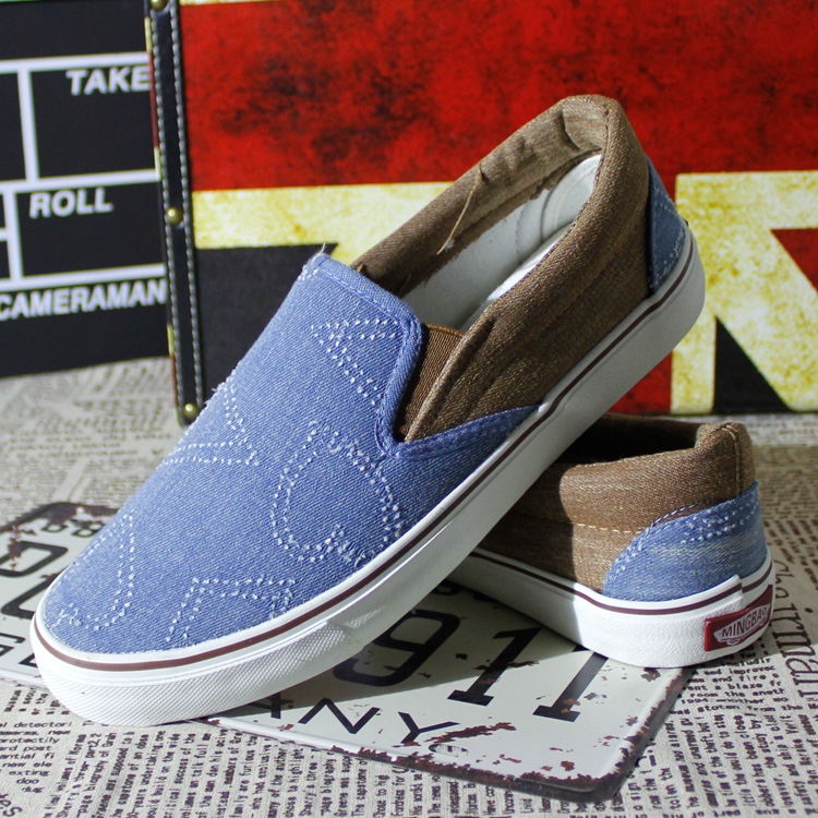 Почта мужчин Обувь кроссовки мужчин низкой отрезока моды корейской версии ленивый приливные туфли ступить Обувь мужская обувь