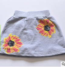 Smopocket children's skirt The original single sunflower art aron skirts pants