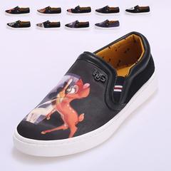 Xie Linng 最新出品 男士高档3D丝光布潮款9色帆布鞋 888 P100