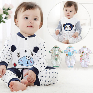 New Fall 2014 men and women cartoon baby clothes Romper climb leotard newborn infants and young children children s clothing apparel