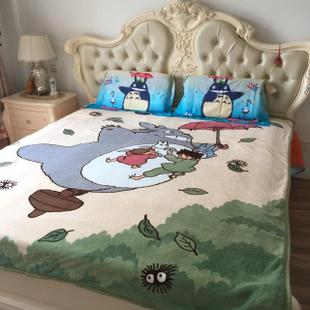 Original single totoro Totoro coral carpet nap blanket air conditioning was sub towel Specials