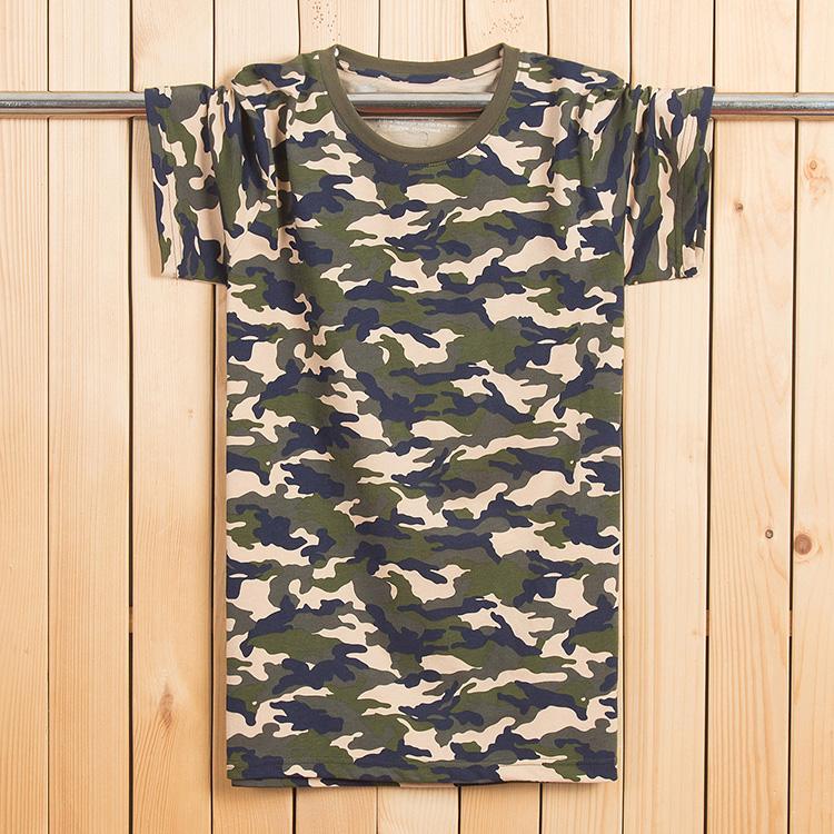 天天特价迷彩纯棉短袖t恤男 加肥加大码胖子军训服装迷彩宽松半袖