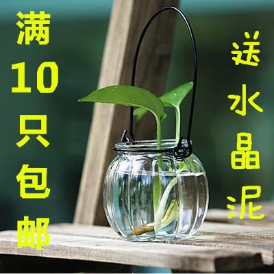 南瓜吊瓶南瓜瓶玻璃插花瓶水培容器_南瓜吊瓶南瓜瓶玻璃水培容器插花瓶水培吊瓶植物吊瓶花盆花瓶