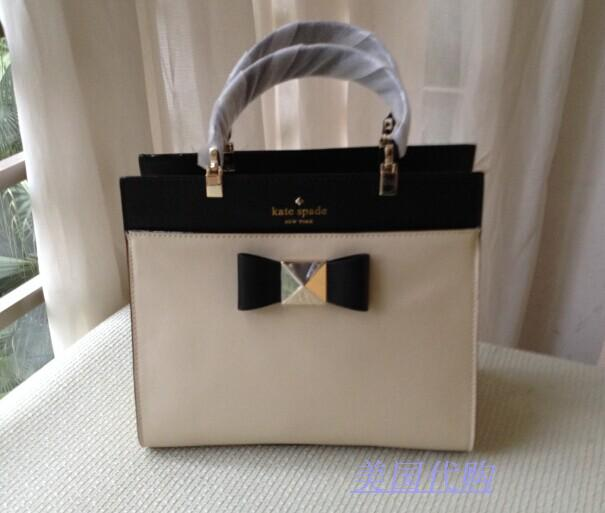 302be3797 US purchasing KATE SPADE leather bow hit the color diagonal package  handbags PXRU4403