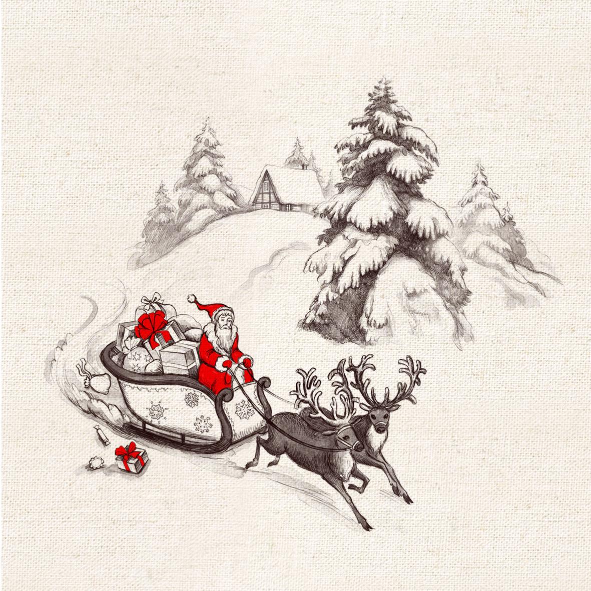 Миссис cat ткани ручной работы ткани хлопок, Лен хлопок, лен рука крашения хлопка и льняном холсте карты Рождество