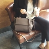 MOERCC European and American minimalist leather fringed handbag autumn and winter leisure leather handbag shoulder bag bag bat wings