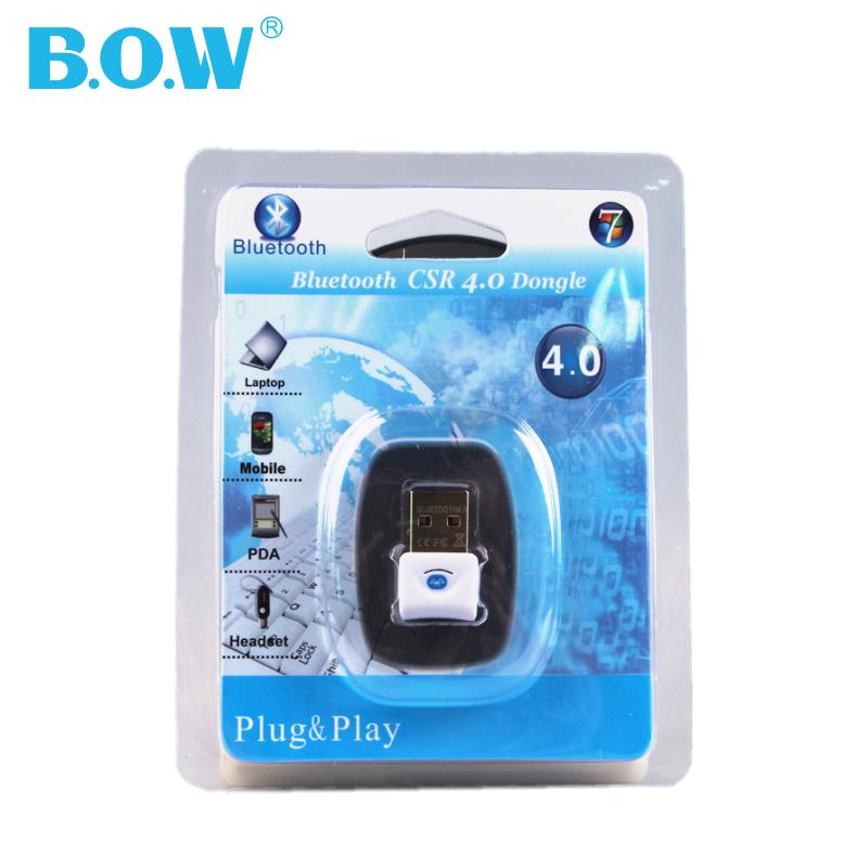 BOW航世 笔记本蓝牙USB4.0适配器 台式电脑键盘音箱发射3.0接收器兼容4.1