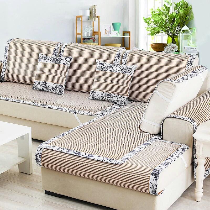 藤席沙發墊 涼席涼墊冰絲定做坐墊真皮沙發席子套巾罩簡約