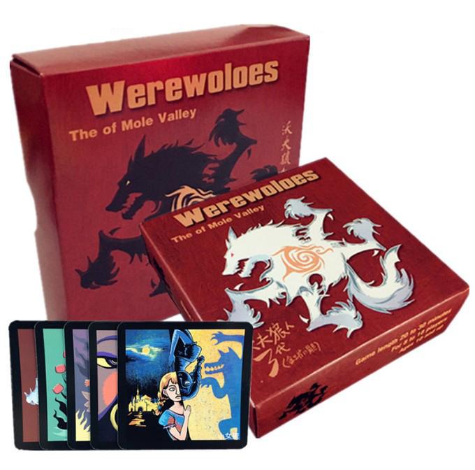 狼人游戏牌狼人杀含扩展杀人游戏天黑请闭眼电竞聚会狼人3代