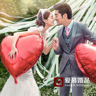 75cm Large heart shaped heart shaped aluminum balloons wedding birthday party balloons decorated wedding props