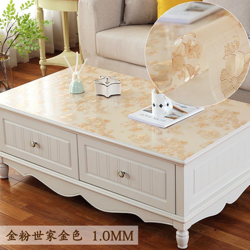 Сделанный на заказ pvc прозрачный скатерть кофейный столик скатерть обеденный стол подушка кофейный столик подушка скатерть геометрическом горячей масло одноразовый прямоугольник