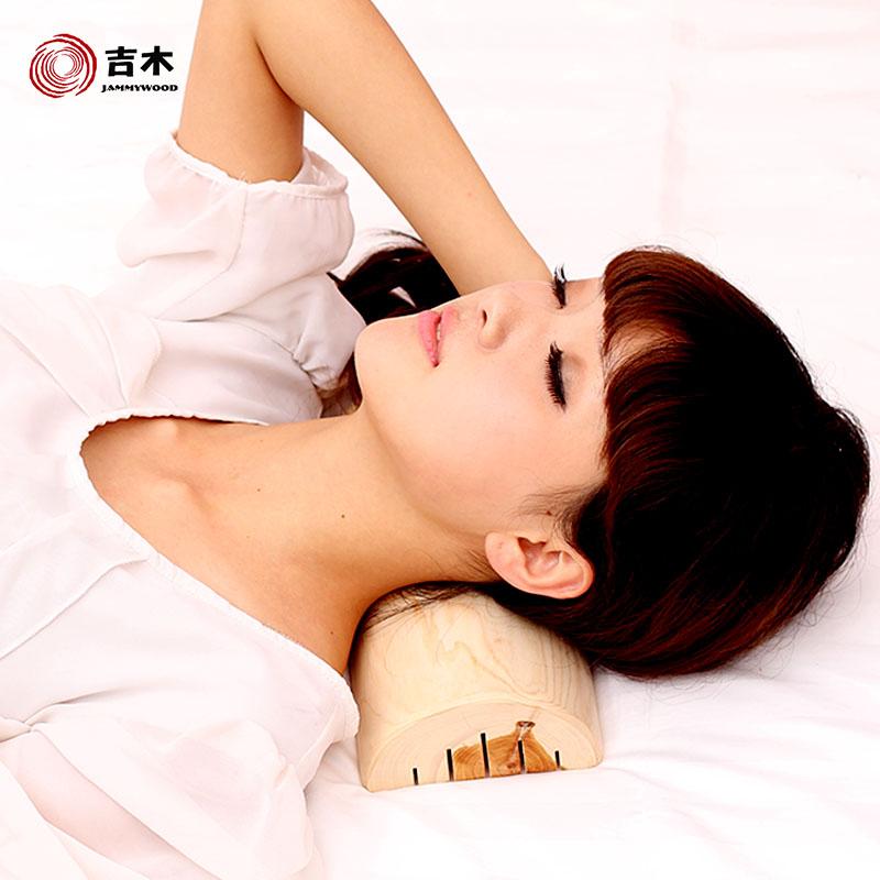 吉木香柏木硬枕头 原木颈椎枕 家居床上用品枕头 送枕套