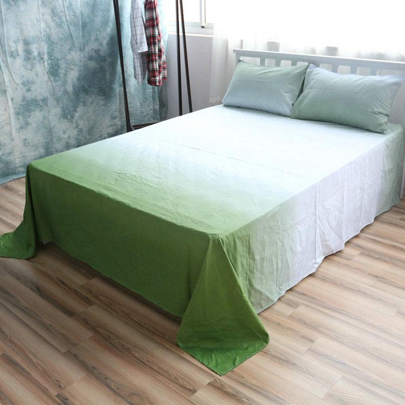优洁家纺 纯棉简约风床单单品纯棉床上用品三件套枕套床裙
