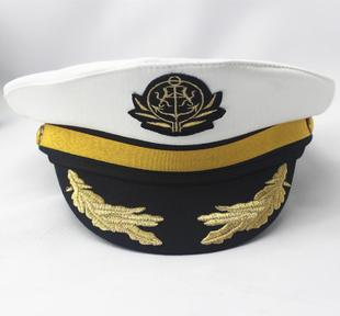 Navy sailor cap captain cap hat festival hat props uniforms adult men and women show performances hat child