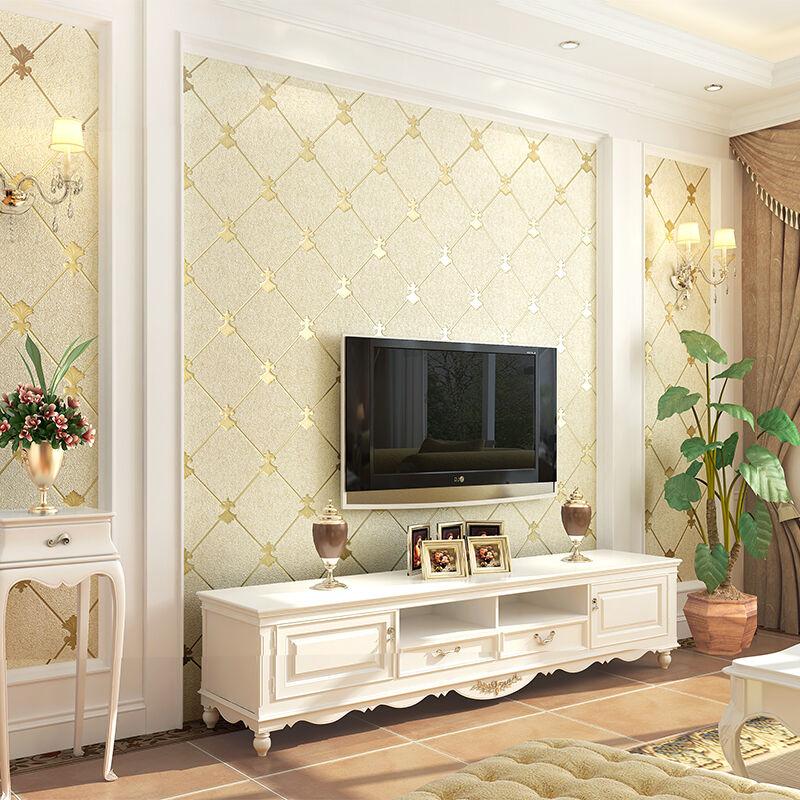 电视背景墙壁纸加厚浮雕3d立体环保卧室客厅简约现代无纺布墙纸