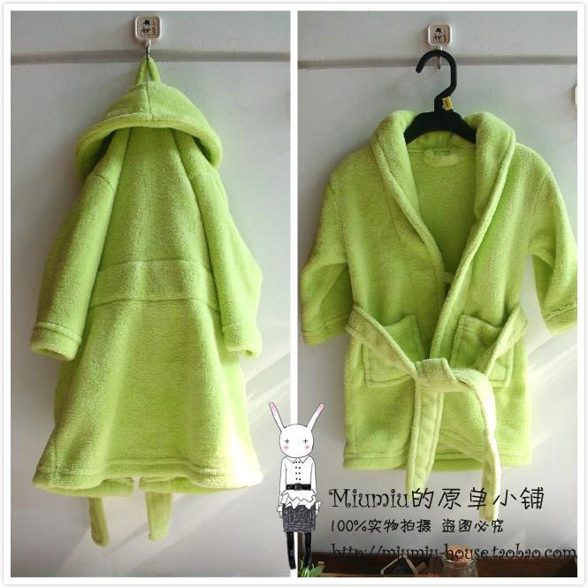 Оригинальные младенческой супер мягкие коралловые флис вышитые ребенок ребенок Халат халат полотенце одеяние пижамы