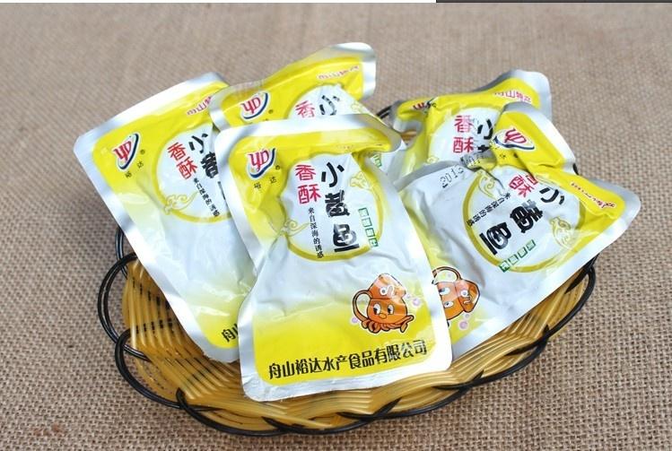 浙江特产 裕达 舟山香酥小黄鱼400g/袋 很香喔 满3份多省包邮啦