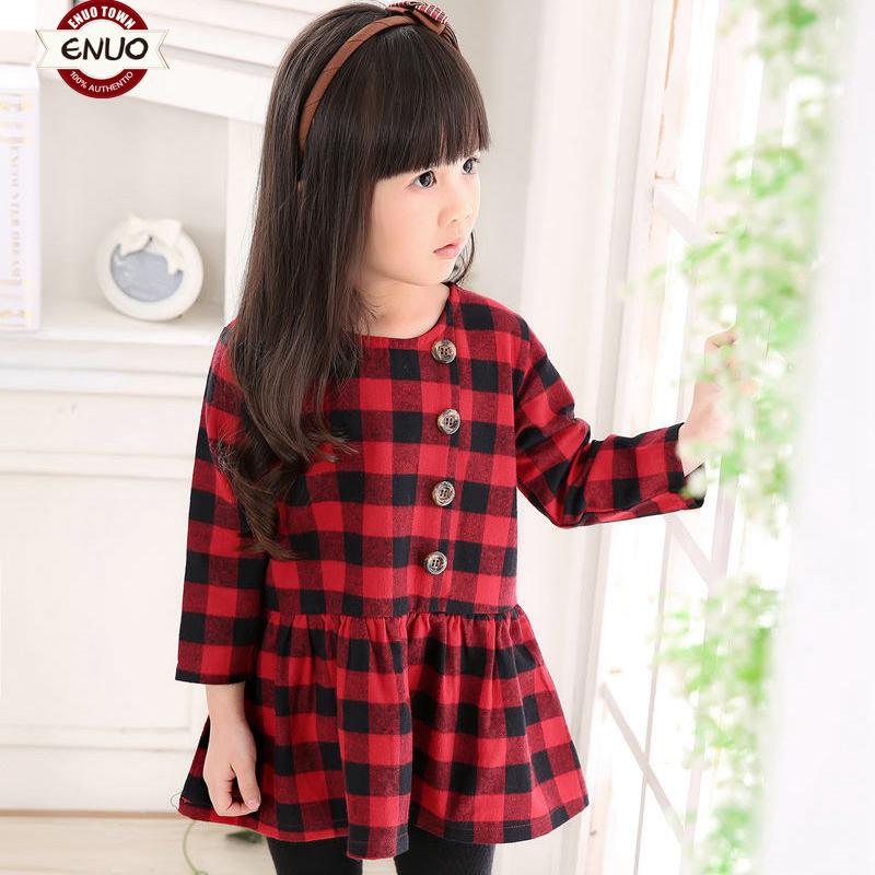 Ино весной 2016 городок ребенка девочек юбки платья, двойная ситцевом Корейский моды