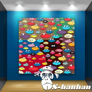 kaws Harbour cloud clouds creative fashion living room bedroom frame painting mural paintings modern decorative painting background