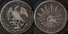 Mexico (North America) & ndash; Early August 1834 r American eagles large silver (the coronal specials)