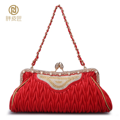 Fat Cobblers 2016 new evening bag cosmetic bag with chain shoulder bag bag bride bag wedding package nightclub packages