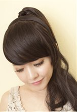 Selling wigs bang female False bang inclined Liu Haifa piece Hair band type Bang piece Bang hair piece