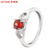 Female stone Garnet ring 925 Silver ring jewelry Valentine''s day gifts