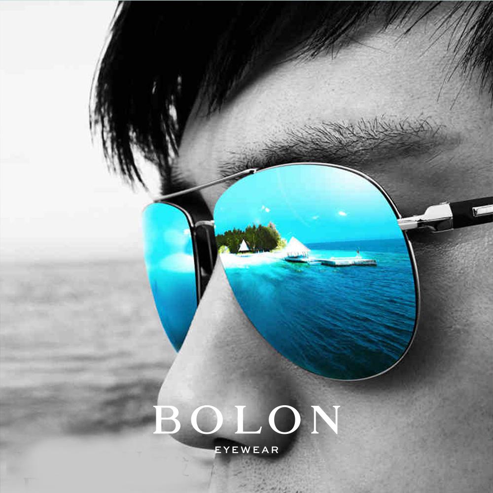 BOLON暴龙偏光太阳眼镜男士复古蛤蟆镜金属框墨镜开车眼镜BL2362