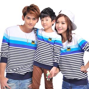 春季新款亲子装一家三口全家装韩版母女母子装长袖T恤卫衣