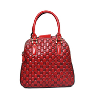 Long luxury leather, beautiful female header layer of leather embossed bag retro bag 2015 national wind new tide