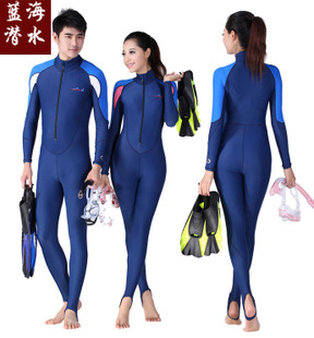 15 new authentic UPF50 sun protection clothing jellyfish clothing snorkeling wetsuit wetsuit men and women in Maldives