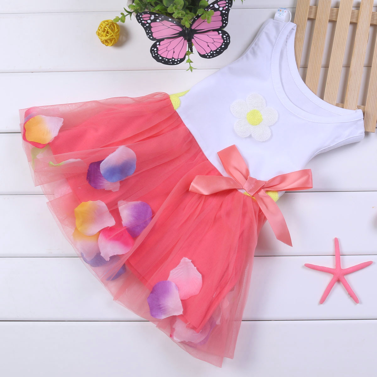 Лето 2015 новый корейской версии цветочные платья, младенческой ребенка принцесса юбки платье девушки Детская одежда 0-1-2