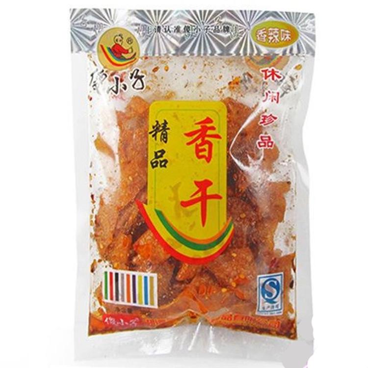 湖南特产傻小子五香干70克袁师傅片片香麻辣香脆豆腐皮零食特价