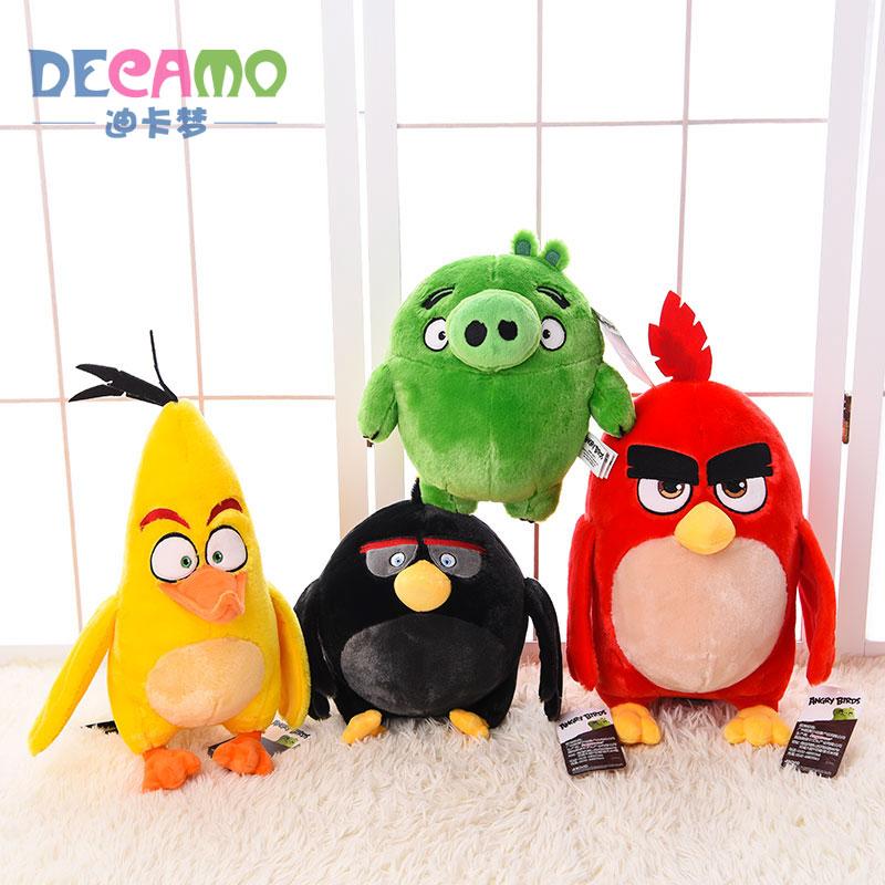 Aoger正版憤怒的小鳥公仔毛絨玩具鳥兒玩偶娃娃兒童節生日禮物