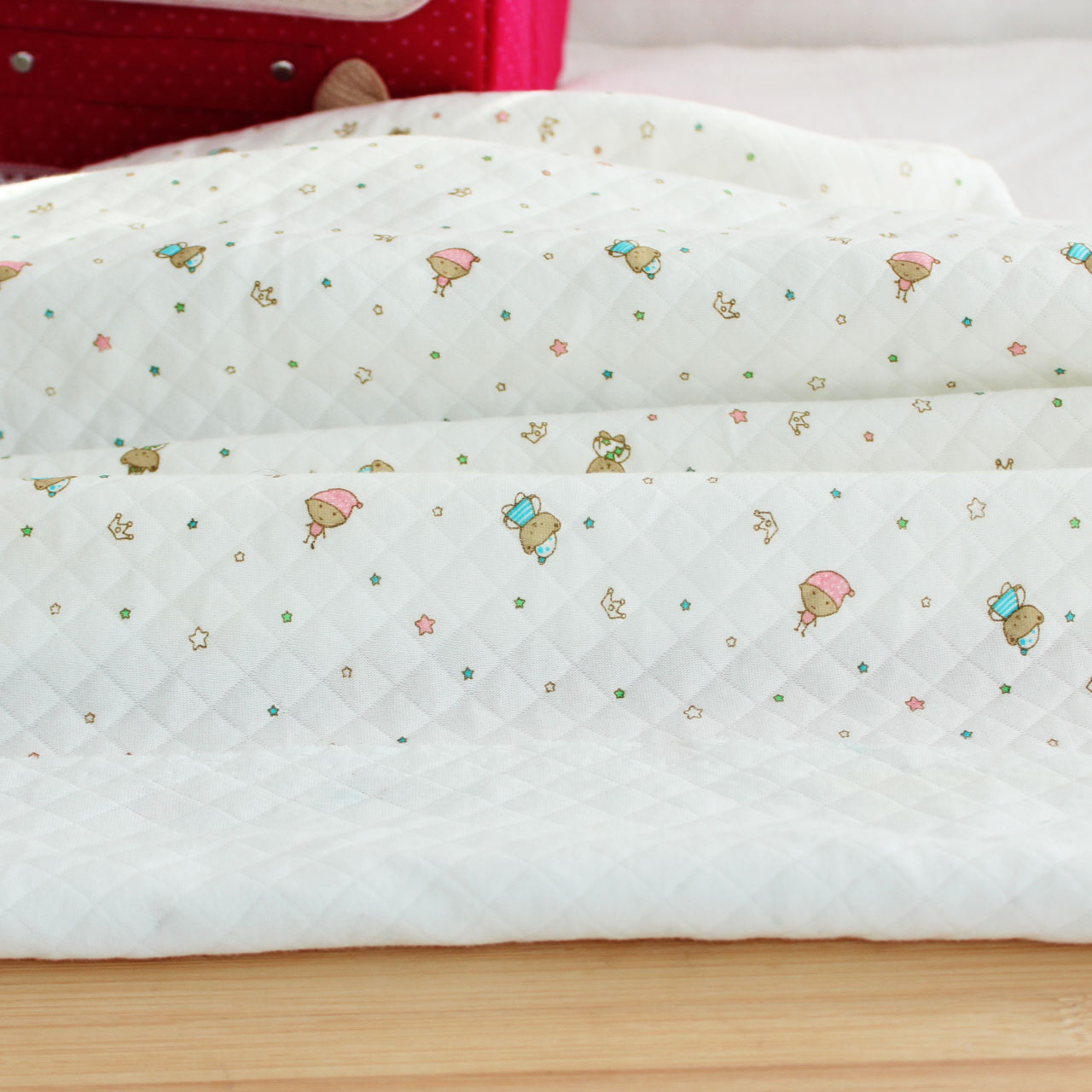 保暖夹棉针织婴儿面料 精梳纯棉空气层布匹 宝宝贴身棉布布料