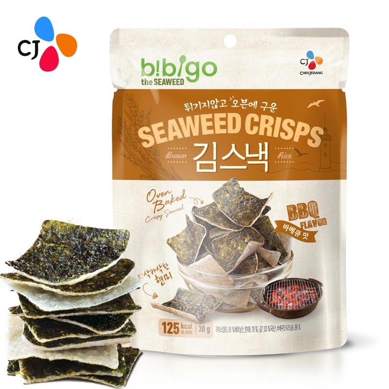 ~天貓超市~韓國 希傑即食海苔米餅脆烤肉味30g兒童零食