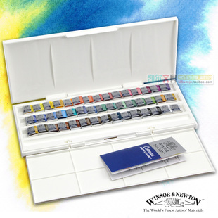 Song text Cotman Winsor Newton watercolor paints 45 semi bulk solid color studio suit
