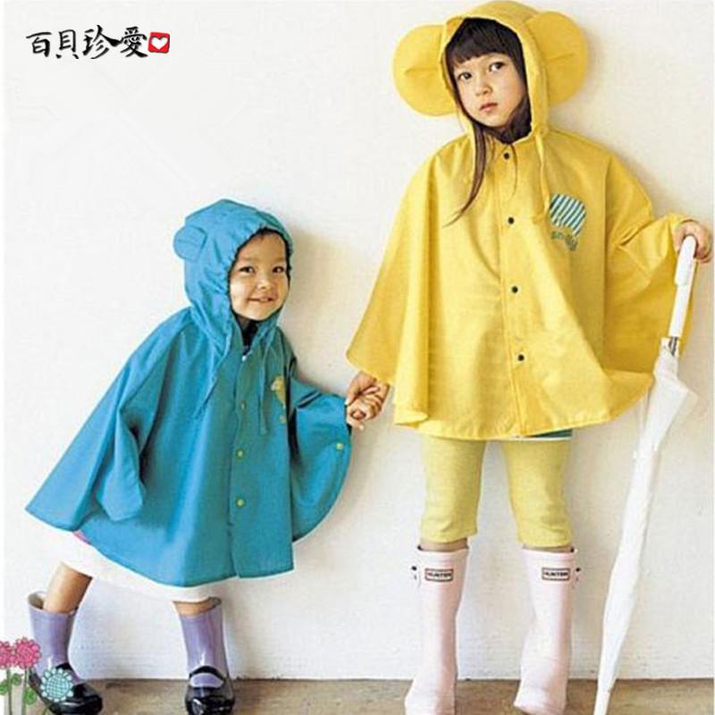 韩版Smally儿童雨衣雨披男女童韩国可爱学生轻薄款自行车斗篷雨衣