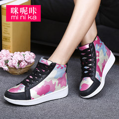 Microphone clicking fall 2015 high women's shoe Department within the new Korean wave trendy stealth high casual sneakers
