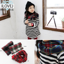 South Korea part code spot ILOVEJ girls qiu dong outfit paragraph add wool plaid scarf scarf/JLWEC18